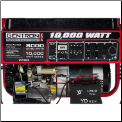 Gentron10,000Wt New-Model,15 Hp Elect Start Battery Included Auto Voltage Reg Hour Meter Wheel Kit Low Oil Shutoff 120/240v 7 Outlets 4x120v 1x120v 1x120/240v 1x12vDC Battery Charger Contractors Home Emergency First Pick 49state  Free Shipping (SKU: .GG10020)