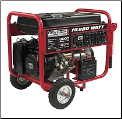 Gentron 10,000wCalif 15hp Elect Start Battery Included Auto voltage Reg  Wheel Kit 120/240v-30 amp.7 Outlets 4x120vac1x10v 1x120/240 1x12v dc Hour Meter Auto Voltage Reg Low Oil Shutdwn CARB/Calif Approved-SHIPS FREE (SKU: GG10020C)