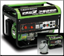 Gentron 3500P Pro 2  Propane Generator 6.5hp Auto Fuel Shut Off 10hr Run@ Half Load=5 Gal/20lb Propane Fuel Fuel Hose Included 120/240=2x120v 1x120/240 1x12vDC Epa/California Approved/Free Shipping (SKU: GG3500P)