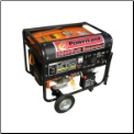 "Powerland 8500E W Tri-Fuel(Gasoline, LPG & NG) Generator 16 HP  Electric Start Battery Included Low Oil Shutoff Idle Control LPG/NG Connectors Outlets 2X120X20A 1X120X30A 1X120/240X30A Auto Voltage Reg 10.5""Wheel Kit  Free Shipping (SKU: PD3G8500E)"