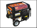 Powerland 10,000E Watt Tri-Fuel=Gas-Propane-Natural Gas Powered Port/ Gen W/Electric Start 16 hp ohv Battery included Volt Meter 120/240 6 outlets 50ampAC Recep Low oil shutoff -EPA/CARB compliant idle control Contractors choice In Stock=Free Shipping (SKU: PD3G10000E)
