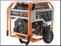 Generac  XG10,000E Watts W/Elect Start /surge 12,500,Battery Included 120/240v 8 outlets-530 cc,eng-low oli shutdwn-fuel gauge,hour meter,Auto voltage reg-wheel kit-Compliant 49 State, w/FREE SHIPPING (SKU: 5802)