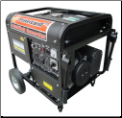 "Powerland 10,000E Wt 16 HP Elect Start Gasoline Includes Battery Low Oil Shutoff Auto Voltage Reg Idle Control 120/240 5 outlets 2x20Ax120v 1x30Ax120v 1x30Ax120/240v 1x50Ax120/240 10.5""WheelKit 10.5"" rubber tires Power Panel -Free Shipping (SKU: PD10000E)"