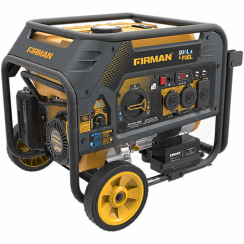 Firman H03651 - Hybrid Series 3650 Watt Electric Start Dual Fuel Portable Generator w/ RV Outlet