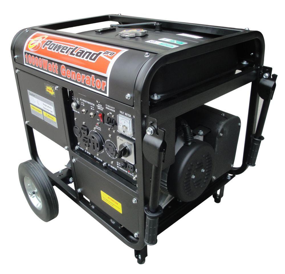 Powerland 10000 Watt Portable Gas Generator 16 Hp
