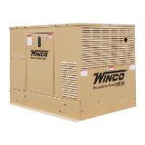 WINCO PSS12H2W KW HOME STANDBY GENERATOR W/ HONDA GX ENGINE LP/NATURAL GAS,50 AMPS @ 240 VOLTS (SINGLE PHASE LOW OIL ALERT/SHUTDOWN AIR COOLED FREE SHIPPING) (SKU: WINCO-PSS12H2W-16400-056)