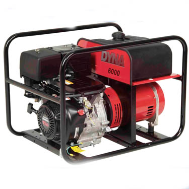 Winco DL6000 HONDA 11 HP 337cc Eng Low Oil Shutdwn Brushless Alternator 120/240(2) 120V 20A Straight Blade (NEMA 5-20R); (1) 120/240V 30A Twist-Lock (NEMA L14-30R)CARB/EPA Compliant Free Shipping (SKU: Winco DL6000H)