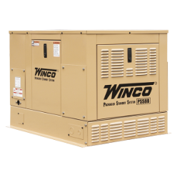 WINCO 8KW HOME STANDBY GENERATOR,16-HP,LP/ NATURAL GAS, ELECTRIC START B&S VANGUARD ENGINEWEATHER-RESISTANT ENCLOSURE,LOW OIL ALERT/SHUTDOWN,,FREE SHIPPING (SKU: Winco ULPSS8B2W-16400-048)