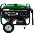 DuroMax XP4850EH 4850 watt Dual Fuel Hybrid w/ Electric Start-Battery included-120V/240V 30 Amp Twist Lock Receptacles-Low oil shut-off Free Shipping (SKU: DUROMAX XP4850EH)