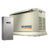 GENERAC  22,000-WATT SINGLE PHASE AUTO START AIR COOLED STANDBY GENERATOR-AUTO-TRANSFER SWITCH-FREE SHIPPING BUY [2] PAY BY CHECK $4998