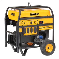 DeWalt-Honda 14,000wt Electric Start/Battery Included HondaGX 688cc Low Oil alert Idle Control Fuel Gauge Hr Meter. Wheel Kit Clean Power120/240 Bonded 2x20Ax120 1x30Ax120/240 1x50Ax120/240  CARB/EPA/CSA Free Shipping