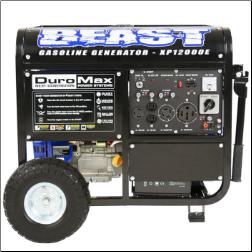 DuroMax XP12000E Gasoline-Elect start-12000 Watt 457cc18 HP Battery&Wheel kit-Included-Low oil shutoff-CARB/Caiif EPA CompliantFREE SHIPPING