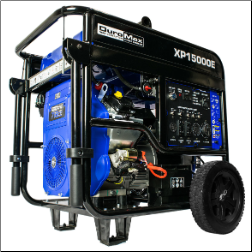 DuroMax XP15000E-Gasoline-713cc/233.7HP V-Twin-Electric-start Battery-Wheel Kit Included-50-amp/120/240EPA/CalifCompliant-FreeShipping