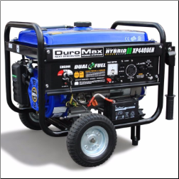 DuroMax XP4400EH 4400-Watt Dual Fuel Hybrid Propane/Gasoline w/ Wheel Kit &Electric Start,LowOil Shutoff-Idle control-FREE SHIPPING