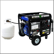 Generac/DuroMax XP10000EH-Gas/LP 18hp  50 AMP-Ohv-Battery/WheelKit Included-,Auto Volt Reg w/Free shipping Tax freeIF YOU CALL 724-439-5718 (SKU: DuroMax XP10000EH Bi-Fuel Gas/LP 50 amp)