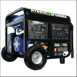 DuroMax XP13000EH 13000 Watt Hybrid Gas Propane 50AMP-Battery-wheel kit incl  500cc DuroMax OHV Engine -Low oil -Low idle control-Low oil shut-off- Digital Voltmeter w/ Hour Meter-EPA and CARB Compliance FREE SHIPPING
