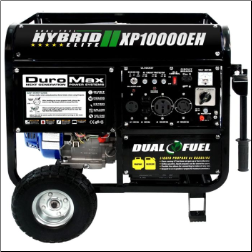 DuroMax XP10000EH 10000-Watt 18-Hp-Idle Voltag Selector-Control DUAL-FUEL--Gas-LP HYBRID  Electric Start-Battery,Wheel kit,Included120/240V 50A,Low Oil ShutoffCARB/Caiif EPA Compliant,FREE SHIPPING