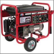 All Power APGG4000 4000W Portable Generator with Wheel Kit FREE SHIPPING (SKU: APGG4000)