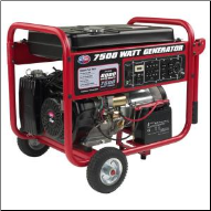All Power America  7500e Watt 13 HP-Electric Start- Auto Voltage Reg-5 Outlets-120/240Volt-12 Volt DC-50Amp-Free battery and wheel kit-9 Hour run@1/2 load-Portable Generator =FREE SHIPPING (SKU: APGG7500)