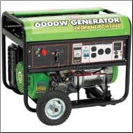 All Power America 6000W Propane Electric Start 13 HP  Generator Auto Fuel shut off 120/240 5 Outlet 2x41.6Ax120V 1x41.6Vx120vTwist Lock 1x20.8Ax120/240vTwist Lock 1x12vDC Hour meter Wheel Kit w/ EPA/Free Shipping (SKU: APG3560CN)