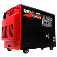 "All Power America 7000E W ""DIGITAL"" Diesel Electric Start W/ Battery 2 Start Keys Digital Control Panel  Voltage  Hour Meters 120/240V 5 Outlets 2x41.6Ax120V 1x41.6Ax120v Twistlock 1x20.8Ax120/240 TwistLock 1x12vDC SuperQuiet 69db Wheel Kit Free Shipping (SKU: durostar DS7000Q)"