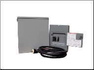 "Winco Square D ETS-60/30A Transfer Switch Kit-AMPS 30 OUTSIDE PANEL WEATHER RESISTANT ""J"" BOX DISTRIBUTION PANEL  CORD FLEXIBLE 10' CIRCUIT BREAKERS 120 VOLT 240 VOLT 4* - 1 POLE 2 - 2 POLE PLUG NEMA L14-60 30A-FREE SHIPPING (SKU: winco 64488-000)"