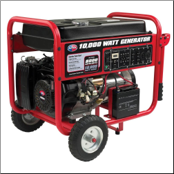All Power America 10000eW 15hp 4Stroke OHV 420cc Electric Start/Includes:Battery  Hour Meter Never Flat Tires Low Oil Shutdwn 120/240v Recepticles 2x120vDuplex 1x120vLocking Plug 1x120/240v Locking Plug 1x12vDC EPA/CARB/CaliforniaCompliant_Free Shipping
