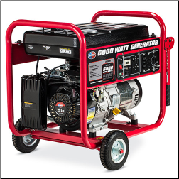 All Power America 6000E watt Recoil Start 9 HP 4 Stroke OHV Generator Low Oil Shutdwn120v Two AC duplex 120V outlets, one 120V locking plug out  Free Shipping