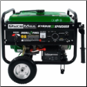 DUROMAX XP4850EH GAS/ Propane 7hp Auto Fuel Shut Off 10hr Run@ Half Load=5 Gal/20lb Propane Fuel Fuel Hose Included 120/240=2x120v 1x120/240 1x12vDC Epa/California Approved/Free Shipping (SKU: GG3500P)