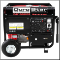 All Power-DUROSTAR 10000E GAS  Electric Start/Battery Included Wheel Kit LowOil Shutdwn Hour Meter 50AMP 120/240 Outlets 2x120v 1x120TwistLock 1x120/240TwistLock 1x12vDC AutoVoltage Reg  CARB Approved Free Shipping (SKU: APGG7500-DS1000E)