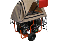 GenTent 20K Running Cover (Extreme, TAN) For your Generator wattages (12000 - 15000GenTent 20k Stormbracer Extreme with Universal mounting kit for open frame portable generators Free Shipping ) - GT20KB4UTB (SKU: GT20KB4UTB)