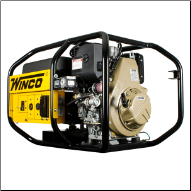 Winco 6000 Watt Diesel Portable Generator,Kohler 10 hp-435ccOHV,Electric Start 120/240 2x20A NEMA 5-20 GFI 1x50A NEMA 5-50,Low Oil Protection,Hour Meter,50 state CARB/Calif approved=FREE SHIPPING (SKU: WINCO W6010DE)