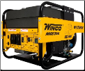 Winco  WL12000HE 50AMP Industrial Big Dog Portable Generator, 12000 Starting Watts, 10800 Running Watts, 90 Running Amps @120 VAC, 45 Running Amps @240 VAC, Capacitor Voltage Regulator, 45 Amp Main Circuit Breaker, Bonded Neutral, (SKU: Winco  WL12000HE 50AMP-24012-012)