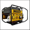 Winco Big Dog Industrial Gen-WL22000VE/B,19 kW, 31 HP, AVR, Electric StartAVR, 3600 RPM, 80 Amp Anderson Plug, Brushless Alternator, Built In America, Copper Windings, Fuel Gauge, GFCI Protection - Full, Hour Meter-FREE SHIPPING (SKU: WINCO WL22000VE/B 80 AMP  PHASE 1)