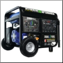 DuroMax XP13000EH 13000 Watt Hybrid Gas Propane 50AMP-Battery-Wheel kit  Incl 500cc DuroMax OHV Engine -Low oil -Low idle control-Low oil shut-off- Digital Voltmeter w/ Hour Meter-EPA and CARB Compliance FREE SHIPPING (SKU: DuroMax XP13000EH)