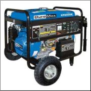 Gentron 7500Ewt 13 HP Generator Electric Start -50 AMP- Battery Included Auto Voltage Reg Low Oil Shutoff Max Current 50A@120V 25A@240v  2x30Ax110v 1x30Ax120v 1x30Ax240v 1x DCx12v BatteryCharger Wheel Kit FREE SHIPPING (SKU: GG7500)