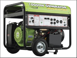 All Power America Propane Generator 420cc-10000 Watt, LP-ELECTRIC START-VOLT METER-BATTERY/WHEEL KIT INCLUDED-120/240 6 OUTLETS 2X3Oa 4X120v FREE SHIPPING