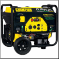 "CHAMPION 3800/4750ElecStart,Dual fuel LP/GAS-BatteryIncludedPushButtonStart,224cc OHV Eng,120v,Voly meter,low oil sensor,3.3' LPG Hose w/ Regulator,8"" wheel kitRV Ready - TT-30R Outlet,50 State CARB Free Shipping (SKU: CHAMPION 3800/4750 LP/GAS   76533)"