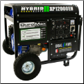 Generac/DuroMax XP12000EH Gas/LP W/Elect Start BatteryWheel Kit Included 50AMP-120/240v 18hp,eng-low oli shutdwn-fuel gauge,hour meter,Auto voltage reg-wheel kit-Compliant 49 State, w/FREE SHIPPING (SKU: DuroMax XP12000EH Bi-Fuel Gas/LP)