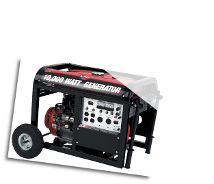All Power-DUROSTAR 10000E GAS  Electric Start/Battery Included Wheel Kit LowOil Shutdwn Hour Meter 50AMP 120/240 Outlets 2x120v 1x120TwistLock 1x120/240TwistLock 1x12vDC AutoVoltage Reg  CARB Approved Free Shipping