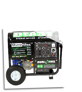 Duromax XP12000EH Gas/LP-12000 Watt DUAL-FUEL- Elec Key Start 120/240 50Amp 18 HP-457cc OHV Eng Hybrid Gas Propane- BatteryIncluded-LowOilShutoffCARB/Caiif EPA Compliant-Free Shipping