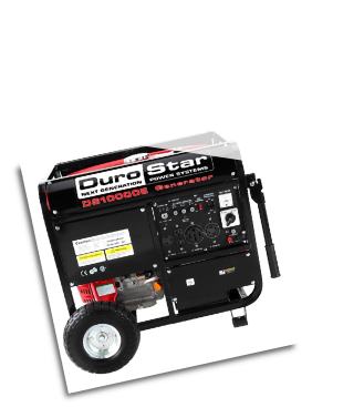 DuroStar DS10000E 10000-Watt 18-Hp Gas w/ Electric Start AC and DC Reg-& Wheel Kit-Low oil shut-off-EPA and CARB-FREE SHIPPING
