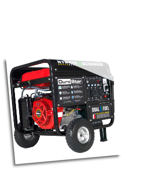 DuroStar DS10000EH 10000-Watt 18-Hp Dual Fuel HYBRID w/ Electric Start,W/Battery-120v/240v 50 Amp-AC/DCRegLow Oil Shutoff-Wheel kit-FREE SHIPPING