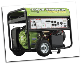 All Power America Propane Generator 420cc-10000 Watt, LP-ELECTRIC START-VOLT METER-BATTERY/WHEEL KIT INCLUDED-120/240 6 OUTLETS 2X3Oa 4X120v FREE SHIPPING (SKU: APG3590CN)