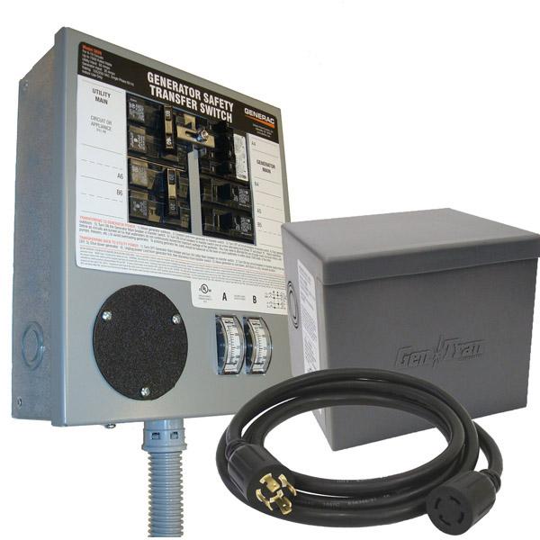 Generac 30 Amp Indoor Kit 8000wt 10 000max Manual Transferswitch 120